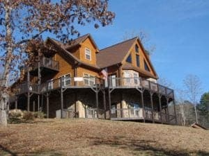 Photo of Casa Grande, a large vacation rental in Murphy NC.