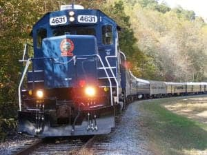 Blue Ridge Scenic Railway near our cabins in Murphy NC