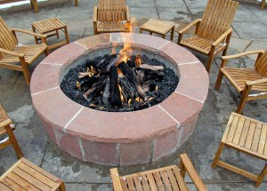 Fire pit at a Murphy NC cabin