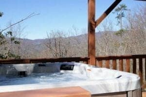north carolina cabin rental with hot tub