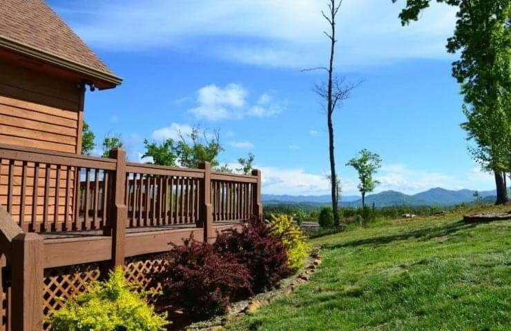 Incredible mountain views from our cabin rentals in Murphy NC.