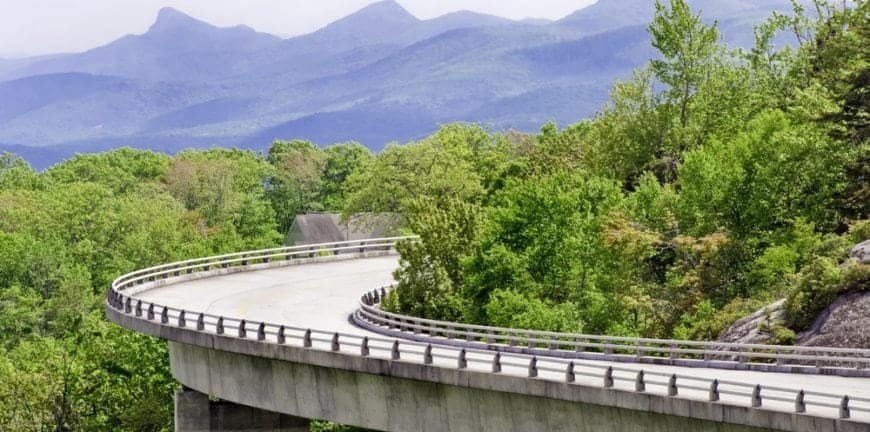 scenic drives in North Carolina near Murphy North Carolina cabins Blue Ridge Parkway